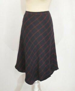 **  Mint Velvet ** Navy & Burgandy Skirt ** Uk 16 ** Asymmetric **