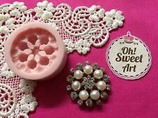 Pearly Brooch Silicone Push Mold Food Safe Cake Decoration Candy Cupcake (FDA)
