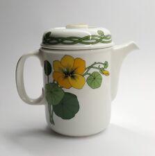 Thomas Porzellan Scandic Flowers Kaffeekanne Kapuzinerkresse 70er