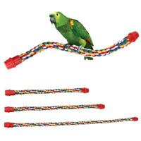 Bird Rope Perch Parrot Toy Swing Hanging Toys Cage Climbing Pet Colorized Bridge