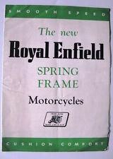 ROYAL ENFIELD PRIMAVERA TELAIO motocicli SALES BROCHURE - 1949 - #mtb / 15m / 5/49