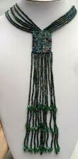 "Glass Bead 26"" Necklace! 6571P Stunning Vintage Estate Multi Strand"