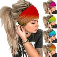 Elegant Solid Cotton Soft Headband For Women Elastic Bands Hair Turban Z4N1