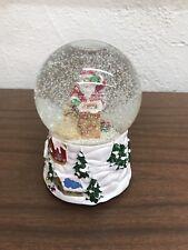 Waterford Holiday Heirlooms 'Rooftop Santa Musical Snowglobe' Handpainted Nib