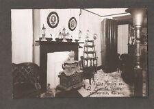 Vtg Postcard A. Lincoln Home Springfield ILL IL Illinois RPPC Front Parlor