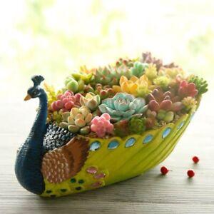 Peacock Resin Planter Succulent Combination / Arrangement Pot Garden Landscapes