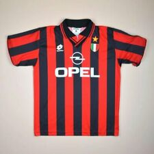 5aed3202c25 AC MILAN ITALY 1996/1997 HOME FOOTBALL SHIRT JERSEY LOTTO VINTAGE SIZE M  ADULT