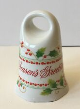 """Vintage-Toscany Collection Porcelain Bell """" Season Greetings� made In Japan"""