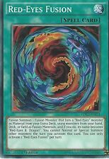 YU-GI-OH CARD: RED-EYES FUSION - LDK2-ENJ24 1ST EDITION