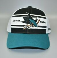 San Jose Sharks Reebok NHL Split Bar Mesh Back Adjustable Snapback Cap Hat