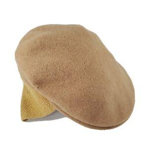 Kangol Tan Wool Earlap Newsboy Cap Hat Ear Flap Large 504