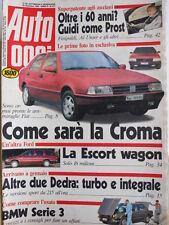 Auto OGGI n°211 1990 Fiat Croma - Lancia Dedra Turbo e Integrale - BMW Se [Q200]