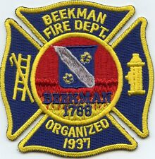 BEEKMAN NEW YORK NY FIRE PATCH