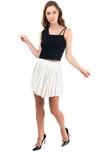 RRP €220 BAND OF OUTSIDERS Linen Skirt Size 1 / XS Pleated Raw Hem Made in Italy