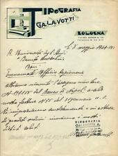 RICEVUTA DI PAGAMENTO TIPOGRAFIA GALAVOTTI - BOLOGNA anno 1943