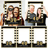 Happy 30 40 50th 1st Photo Protector Photo Frame Props Birthday Party Supply