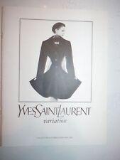Catalogue YVES SAINT LAURENT variation collection automne hiver 1994 1995