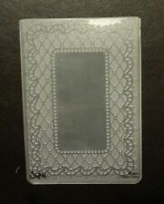Sizzix Large Embossing Folder FRAME VINTAGE LACE #2 fits Cuttlebug & Wizard