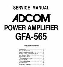 ADCOM GFA-565 Schematic Diagram Service Manual Schaltplan Schematique