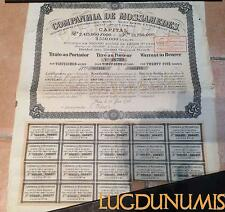 Companhia de Mossamedes – Paris Juin 1926 Titre de 25 Actions