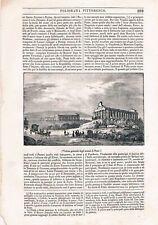 CAMPANIA SALERNO PAESTUM POLIORAMA PITTORESCO XILOGRAFIA 1840