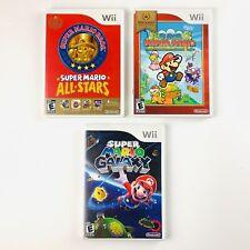 Super Mario Nintendo Wii Bundle (All Stars, Paper Mario, Mario Galaxy) Tested