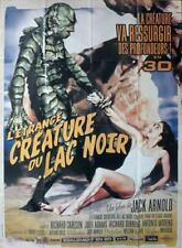 CREATURE FROM THE BLACK LAGOON - RARE REISSUE LARGE FRENCH MOVIE POSTER