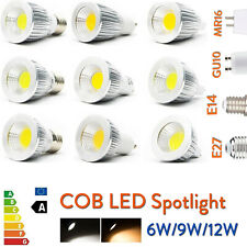 Ultra Bright Dimmable 6W/9W/12W LED COB Spot Light MR16/GU10/E27/E14 Bulbs RK10