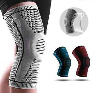 Knee Brace Compression Sleeve Wraps Patella Stabilizer with Silicone Gel Spring