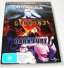 Pitch Black / The Chronicles Of Riddick / Dark Fury--(Dvd, 3 Disc Set)