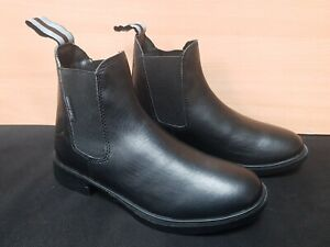 NEW ** HARRY HALL ** SIZE 2 BLACK LEATHER RIDING JODHPUR BOOTS SHOW SHOWING