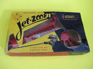 Vintage 50's Jet Zoom Space Gun Ray Pistol With Original Box USA