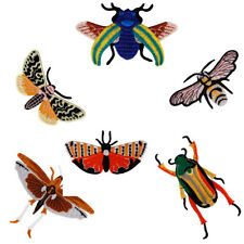 6pc Insect Applique Bee Butterfly Embroidery Fabric Patch Sewing Supplies