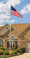 20' Tapered Sectional Flagpole Aluminum Homesteader Flag Pole With Free Flag