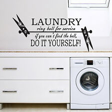 Laundry Washing Room Utilities Quote Wall Sticker Decal Vinyl Wall Art Transfer