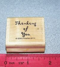 Stampin Up Thinking of you Single Stamp Saying Phrase Friends Friendships