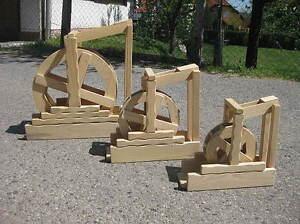 Wasserrad Mühlrad in 3 versch. Größen zur freien Wahl Vollholz Handarbeit Neu