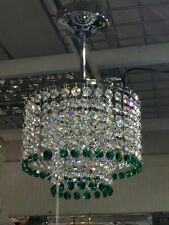 Crystal Chandelier Ceiling Light Fitting Lamp Lighting Chrome MO20/emerald