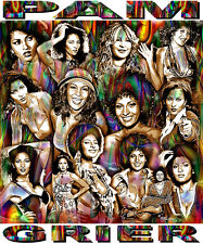 """""""PAM GRIER"""" TRIBUTE T-SHIRT OR PRINT BY ED SEEMAN"""