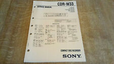 More details for sony cdr-w33 professional service manual for the compact disc recorder