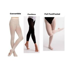 Dance Tights Girls Women's Convertible Footed Footless Soft Ballet Tights Semi