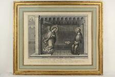"""""""Santissima Annunziata"""" Gius. CALENDI (1761-1831) Radierung 1784 Originalrahmen"""
