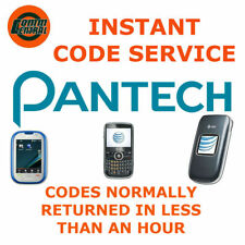 UNLOCK CODE Pantech Burst P9070 Flex P8010 Element P4100 Tablet Ease P2020 P1000