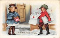 D39/ Valentine's Day Love Holiday Postcard 1918 Shanesville Ohio Newpaper Boy 17