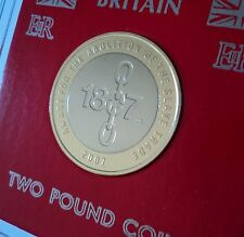 2007 Abolition of the Slave Trade £2 (DG Mark) BU Coin  Hunt Collector Gift Set