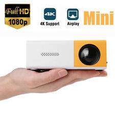 1080P HD Theater Projector Cinema USB AV Home Mini Projector VGA HDMI Movie TV