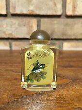 Antique Old Rare Chinese Reverse Glass Handpainted Snuff Bottle Grasshopper Jade