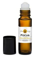 FOCUS Essential Oil Blend Roller Ball Pulse Point Roll On 10ml