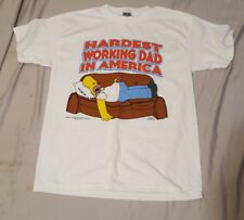 Homer Simpson T-Shirt Hardest Working Dad In America The Simpsons T Shirt