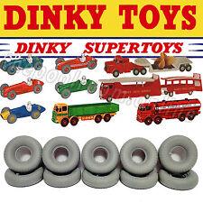 DINKY TOYS TYRES x 10 - 20mm Diameter, Grey, Round Tread